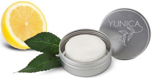 Festes Shampoo Zitrone-Minze in Metallbox als Werbeartikel