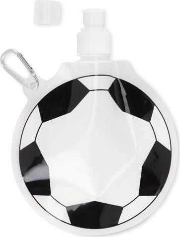 Faltbare Trinkflasche Fußball als Werbeartikel