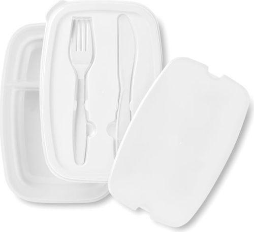 Lunchbox mit zwei Fächern als Werbeartikel