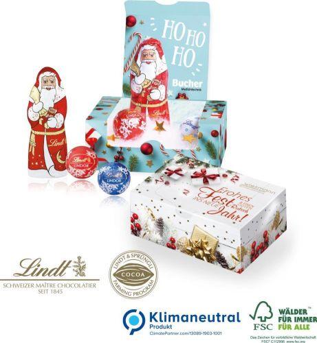 Lindt Weihnachtsmann im Schnee als Werbeartikel