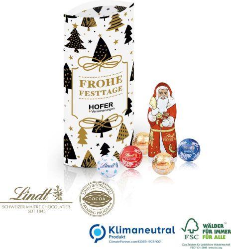 Kissenverpackung mit Lindt Schokolade als Werbeartikel