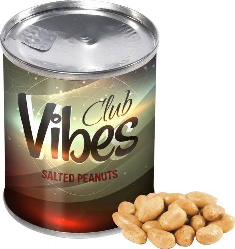 Dose Erdnüsse als Werbeartikel