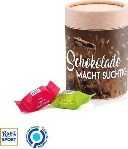 Papierdose Eco Maxi Ritter Sport Würfel als Werbeartikel