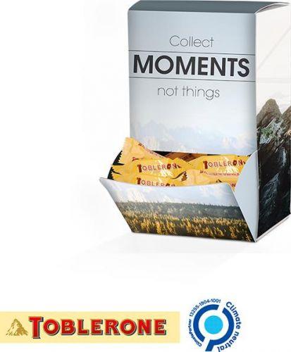Display Box Toblerone Mini, Moments Design als Werbeartikel