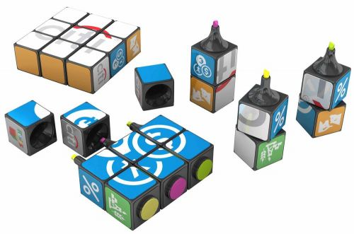 Original Rubiks Textmarker 3er