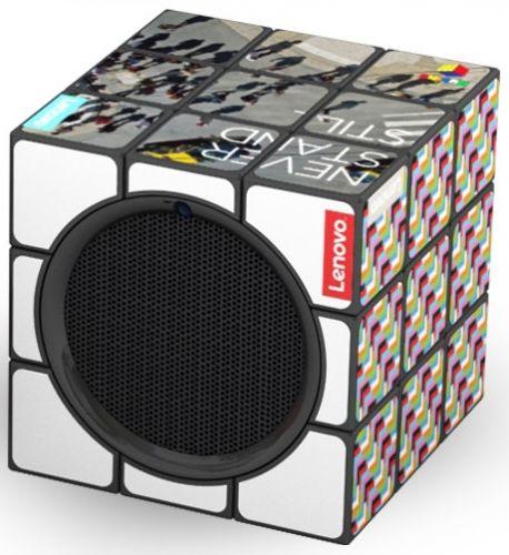 Original Rubiks Lautsprecher als Werbeartikel