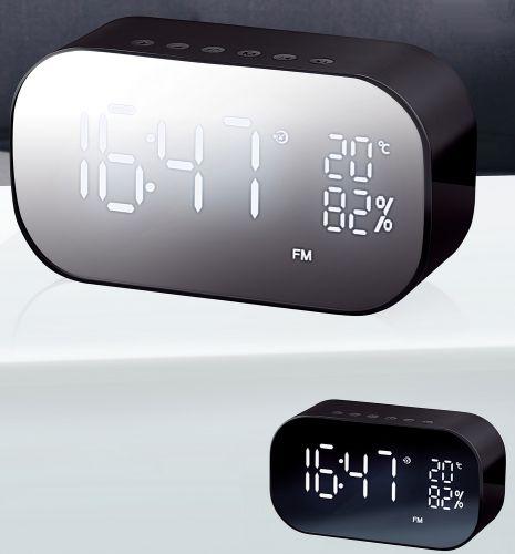 Mirror Bluetooth-Speaker Radiowecker Temperaturanzeige als Werbeartikel