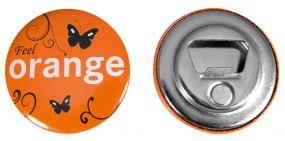 Button mit Flaschenöffner und Magnet inkl. 4c-Werbedruck