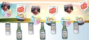 Fahnenketten aus Karton, 4-farbig als Werbeartikel