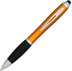 Nash Stylus Kugelschreiber mit schwarzem Griff als Werbeartikel