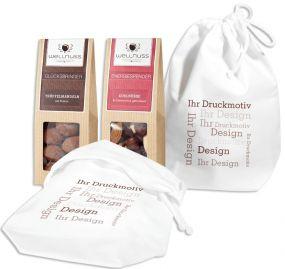 2 Premium Snacks im Baumwollsäckchen
