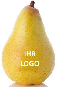 Birne mit Logo