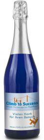 Sekt Cuvée Flasche blau