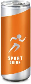 ISO Sport Drink light Grapefruit-Zitrone Fullbody-Etikett 250 ml als Werbeartikel