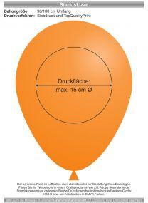 Luftballons - Natur Pur! 90/100 mit 1c-Siebdruck