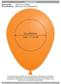 Luftballons - Natur Pur! 100/110 mit 1c-Siebdruck