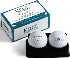 Titleist 2er Ballverpackung Kartenbox inkl. 4c-Druck
