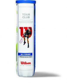 Wilson Tour Club Tennisbälle in 4-Ball-Tube