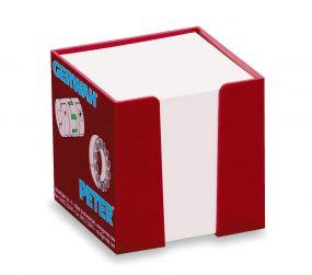 Zettelbox mit Papier