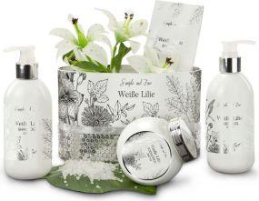 Wellness-Set Weiße Lilie als Werbeartikel