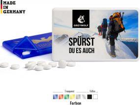 Pfefferminzdragees MintCard als Werbeartikel