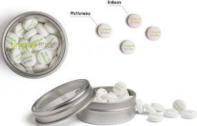 Pfefferminzbonbons Sweetprints individuell als Werbeartikel