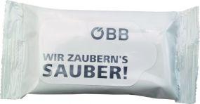 Mini-Feuchttücher inkl. 4c-Euroskala-Etikettendruck