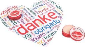 Lippenpflege im Döschen mit Herzkarte LipJar Heart Card als Werbeartikel