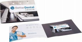 Zahnseide mit Klappkarte dentOcard® Greeting Card als Werbeartikel