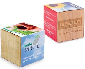Pflanz-Holz individueller Werbedruck
