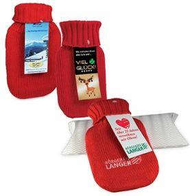 Mini-Wärmflasche mit Werbekarte