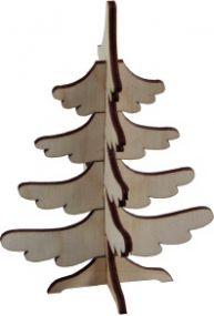 3D Holzpuzzle Tannenbaum mit Laserung