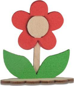 Steckfigur-Blume mit Steckfiguren-Karte Digitaldruck mit einseitigem Druck und Laserung als Werbeartikel