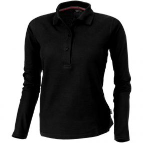 Damen Langarm-Poloshirt Point