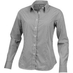 Net Damen Langarm Bluse als Werbeartikel