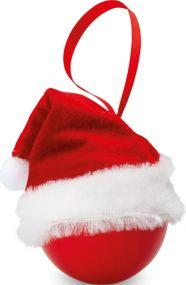 Weihnachtsbaumkugel mit Nikolausmütze als Werbeartikel