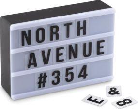 Lichtbox Buchstaben & Zahlen als Werbeartikel