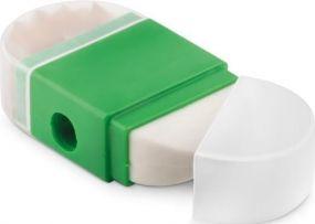 Dosenspitzer mit Radierer als Werbeartikel