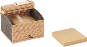 Bambus Notizzettelbox als Werbeartikel