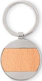Schlüsselring Holz rund als Werbeartikel