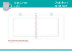 Glas Carina satiniert als Werbeartikel