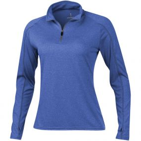 Taza Damen Langarm Shirt mit 1/4 Reißverschluss