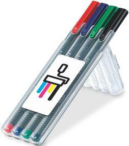 STAEDTLER triplus roller, Box mit 4 Stiften