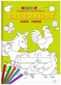 """STAEDTLER Malbuch-Set DIN A4 """"Bauernhof"""" als Werbeartikel"""