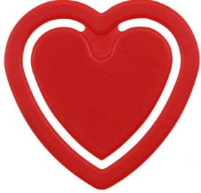 Zettelklammer Herzform als Werbeartikel