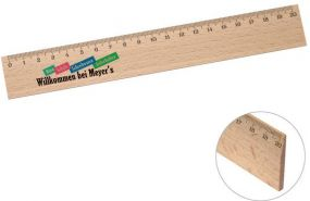 Holz-Lineal 20 cm