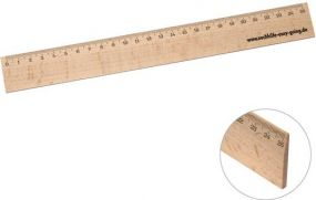 Holz-Lineal 25 cm