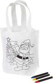 Bemalbare Weihnachtstasche Colourful Carry als Werbeartikel