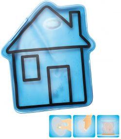 Gel-Wärmekissen Haus als Werbeartikel