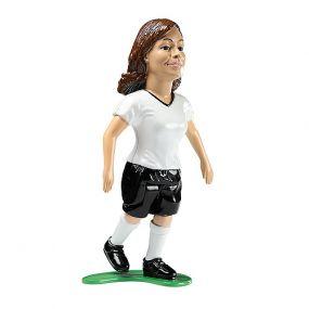 Kick und Fun Feldspielerin 10 cm mit Ball als Werbeartikel